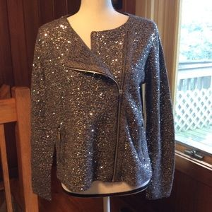 NWT Sage Sequined Cardigan by Chico's